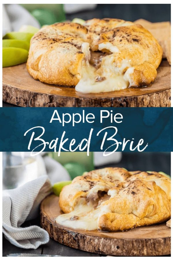 Apple Pie Baked Brie is a simple and gorgeous appetizer fit for any holiday party! Sweet and savory, this warm dip is always a favorite!