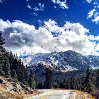 Beautiful mountain view of Breckenridge, Colorado