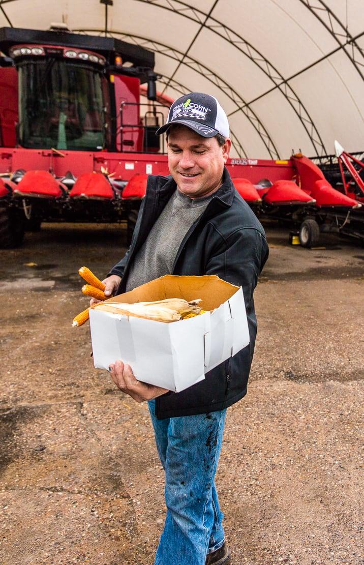 proud corn farmer