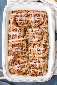 Cinnamon Roll French Toast Bake is the Easy French Toast Bake you've been searching for! This Cinnamon French Toast Bake is SO EASY! It's loaded with premade cinnamon rolls, cream, eggs, vanilla, and everything good. This Cinnamon Roll French Toast Casserole is the perfect Christmas Morning breakfast!