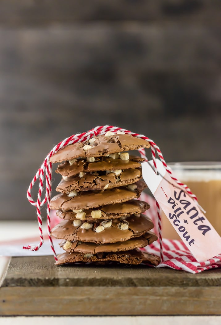Flourless Hot Chocolate Cookies for the #BHGCookieExchange! This EASY cookie recipe is for all the non-bakers (and actual bakers) out there! Cannot go wrong!
