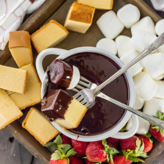 Spiked Chocolate Hazelnut Fondue