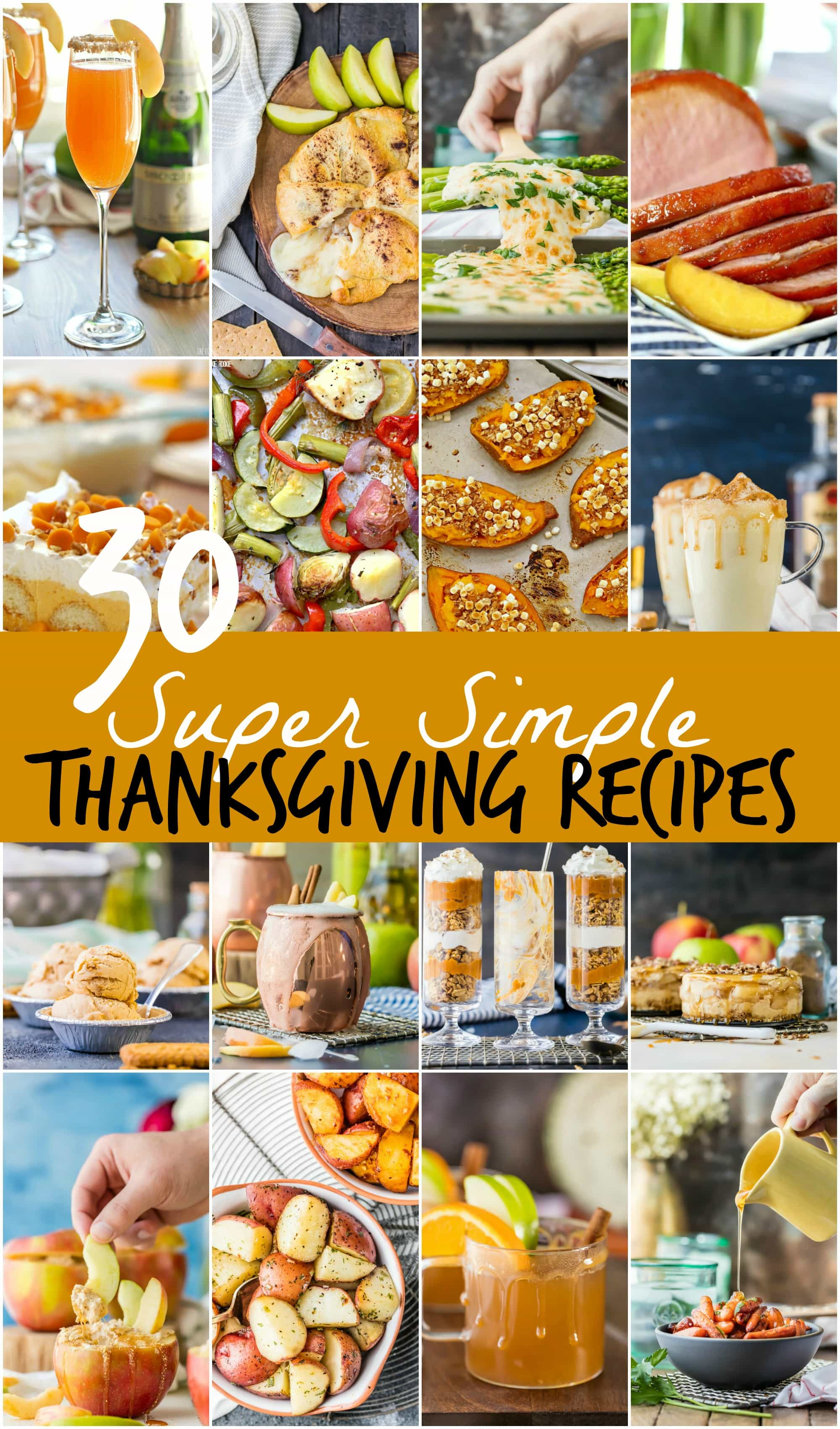 30 super simple thanksgiving recipes for Fun and easy thanksgiving dessert recipes