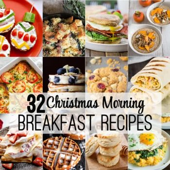 32 Christmas Morning Breakfast Recipes! Perfect easy recipes for holiday breakfast or brunch from the best bloggers on the internet!