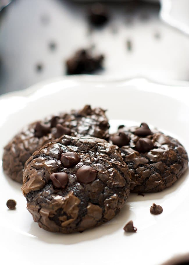 Flourless Peanut Butter Chocolate Cookies | With Salt and Wit