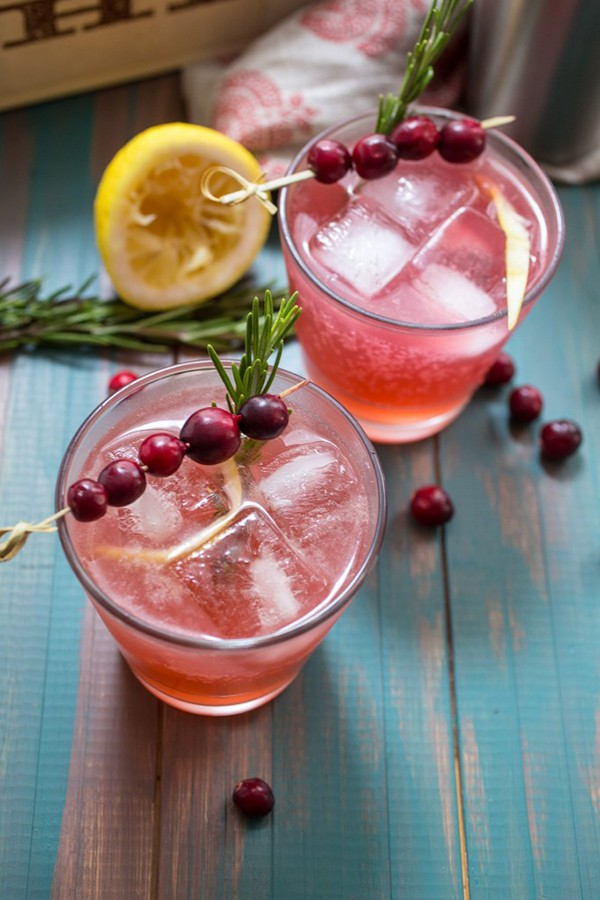 Cranberry Whiskey Sour |Girl in the Little Red Kitchen