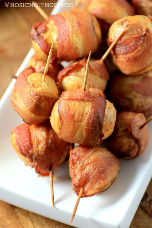 Spicy Bacon Wrapped Little Potatoes | Noshing with the Nolands