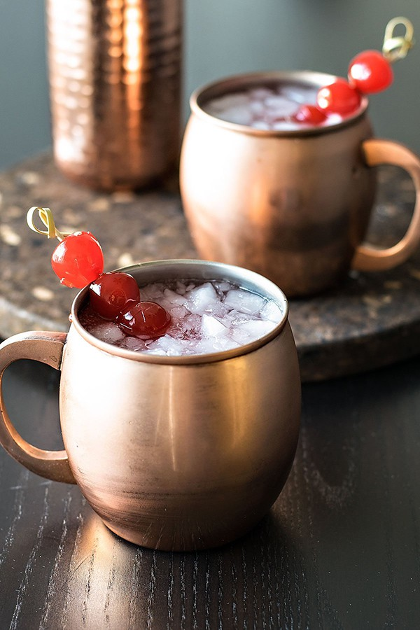 Very Cherry Moscow Mule | Homemade Hooplah