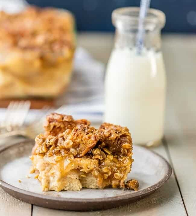 This Apple Pie Bread Pudding recipe is the perfect holiday dessert! We love bread pudding around here, so we added this Caramel Apple Bread Pudding to our recipe collection. It's good for dessert, or even for Christmas morning breakfast!