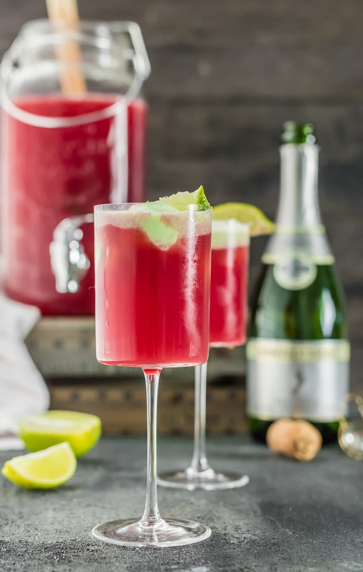 cranberry limeade holiday champagne punch the cookie rookie