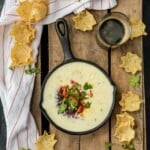 Easy Restaurant Style WHITE QUESO is our FAVORITE DIP RECIPE EVER. The EASY QUESO RECIPE tastes just like queso dip at Mexican restaurants! I have been waiting my entire life for this cheese dip recipe!