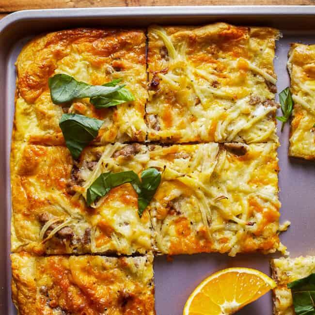 featured breakfast pizza