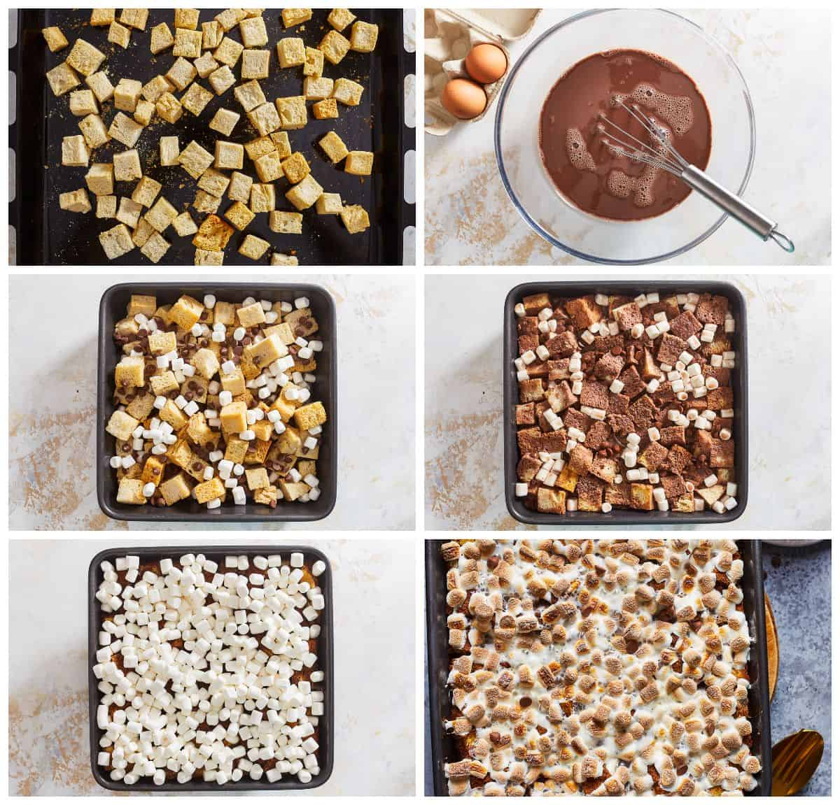 how to make chocolate bread pudding process shots