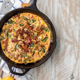 One Pan BLT Skillet Frittata