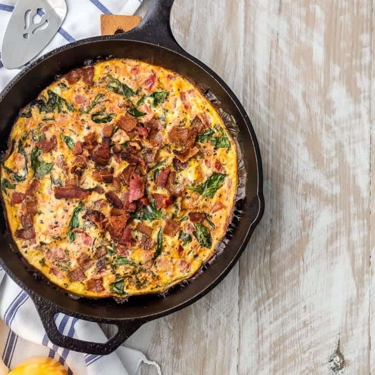 12 Easy One Skillet Recipe Healthy Skillet Recipes The: One Pan BLT Skillet Frittata