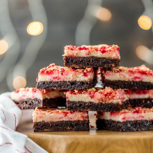 Peppermint Brownies are a MUST MAKE recipe for Christmas! Holiday baking has never been so easy or delicious. These Peppermint Cheesecake Brownies are the perfect Christmas brownies, but I make them year round. They're amazingly delicious!
