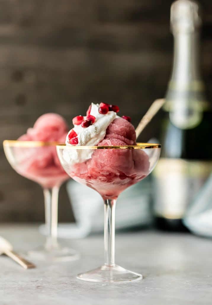 Pomegranate Champagne Sorbet recipe