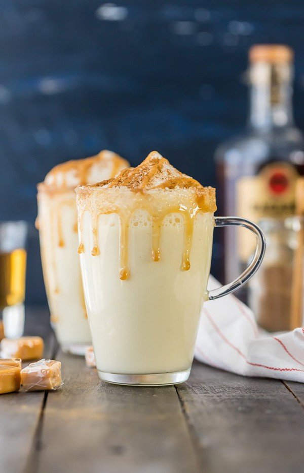 Salted Caramel Eggnog | The Cookie Rookie