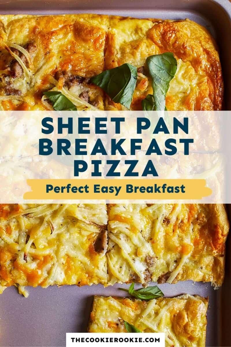 sheet pan breakfast pizza pinterest