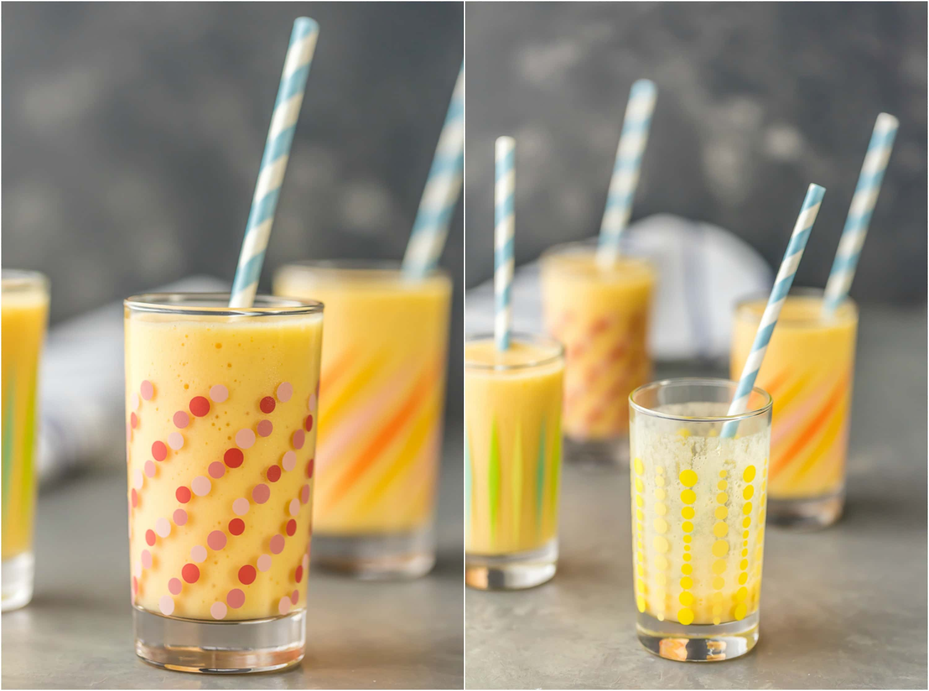 Simple Mango Smoothie made with milk, frozen mango, and honey! Super easy, quick, delicious, and healthy recipe. Perfect for breakfast or anytime you need a sweet treat!