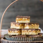 SNICKERS COOKIE BARS! Snickers Shortbread Cookies made with caramel, chocolate, and peanuts! BEST CHRISTMAS COOKIE RECIPE EVER!!