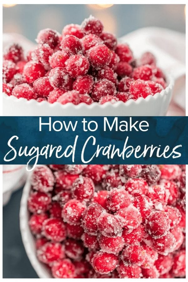 Sugared Cranberries are a simple and gorgeous treat! With only three ingredients, these beautiful candied cranberries recipe will be your go-to garnish or snack this holiday season.