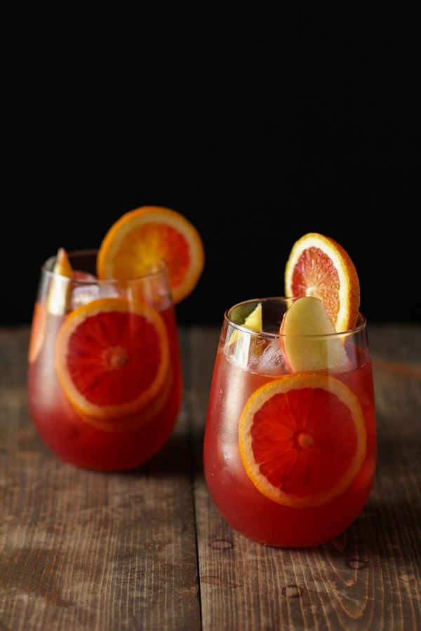 Winter Sangria with Pomegranate, Blood Orange and Apple | The Roasted Root