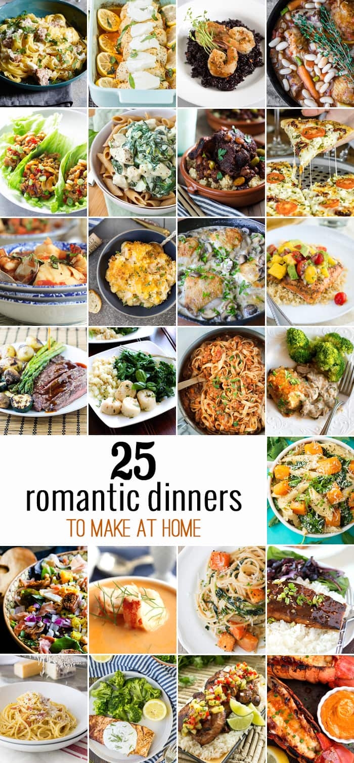 25 romantic dinners the cookie rookie