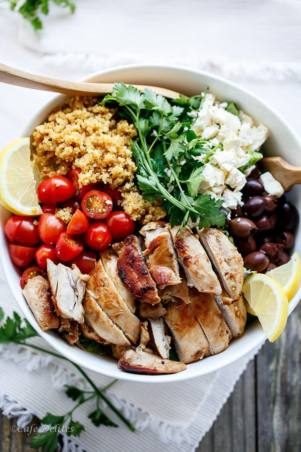 Balsamic Chicken Salad with Lemon Quinoa | Cafe Delites