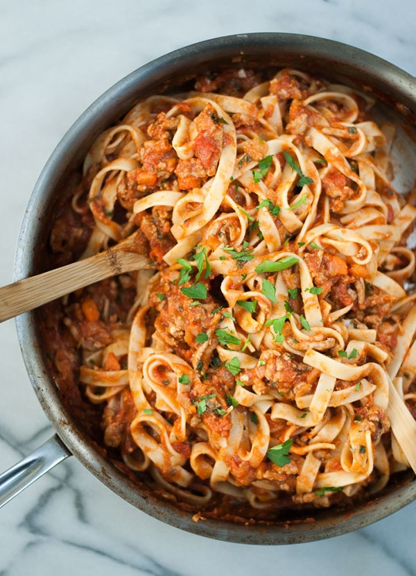 Fettuccine Turkey Bolognese | Life is But a Dish