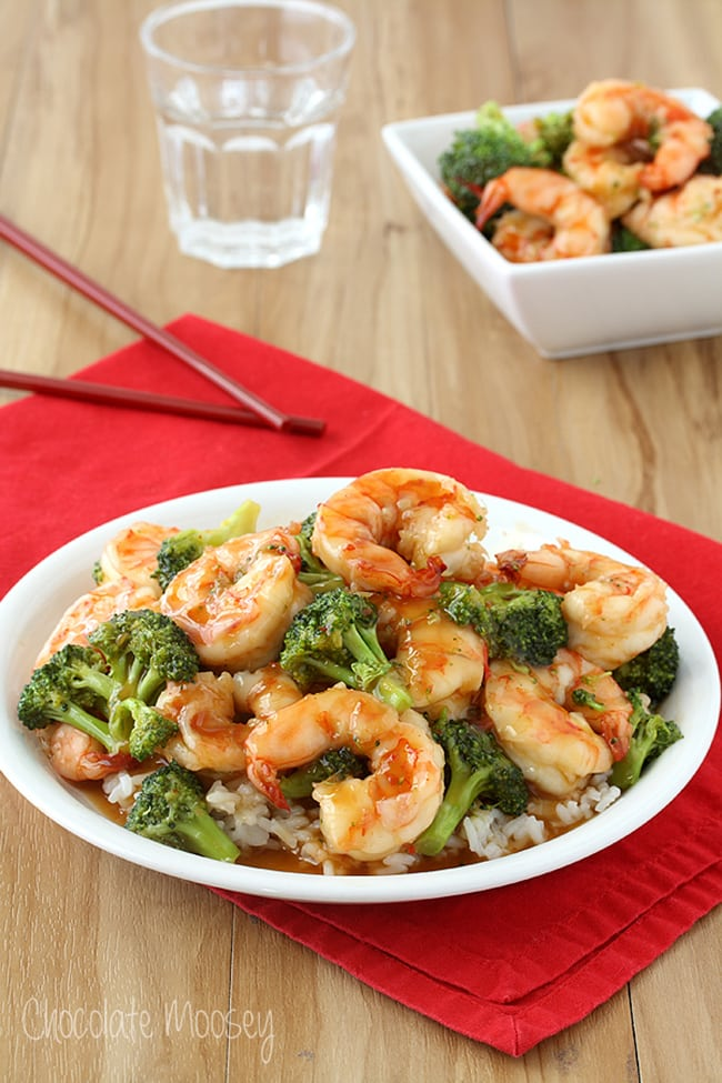 General Tsos Sweet Chili Shrimp | Chocolate Moosey