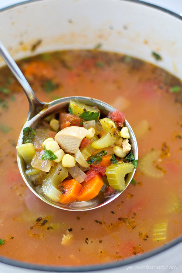 Hearty Chicken and Vegetable Soup | Yellow Bliss Road