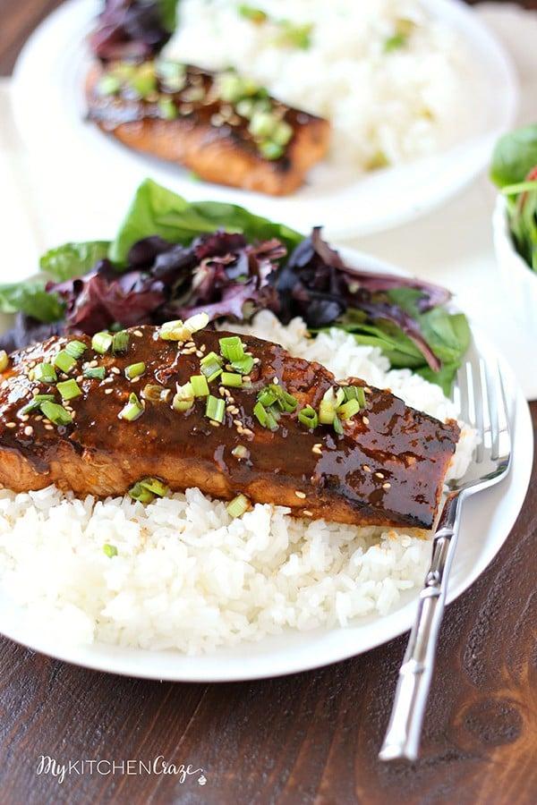 Honey Sriracha Glazed Salmon | My Kitchen Craze
