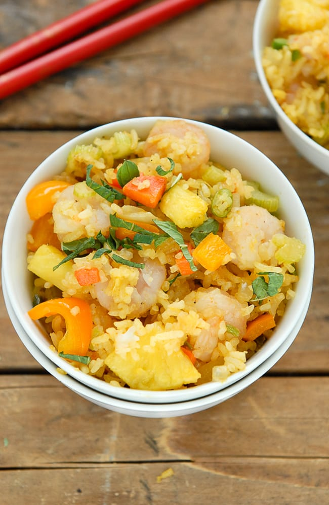 Spicy Pineapple Shrimp Fried Rice | Boulder Locavore