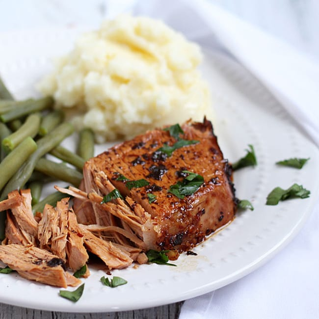 Crock Pot Balsamic Pork Roast | The Blond Cook