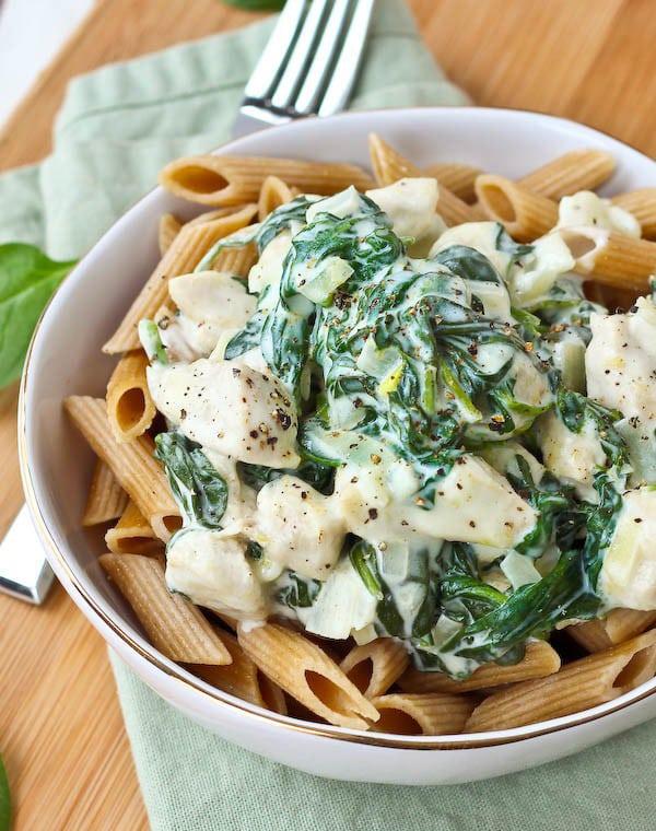 Chicken Spinach Pasta with Lemon Cream Sauce | Rachel Cooks