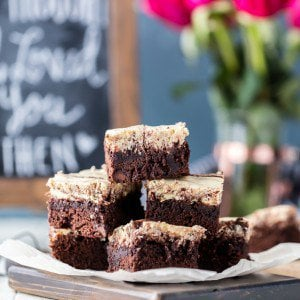 These Classic Caramel Cream Cheese Brownies are as good as it gets! Creamy, EASY and delicious! These is my husbands favorite recipe! (perfect Valentine's Day brownie recipe!)