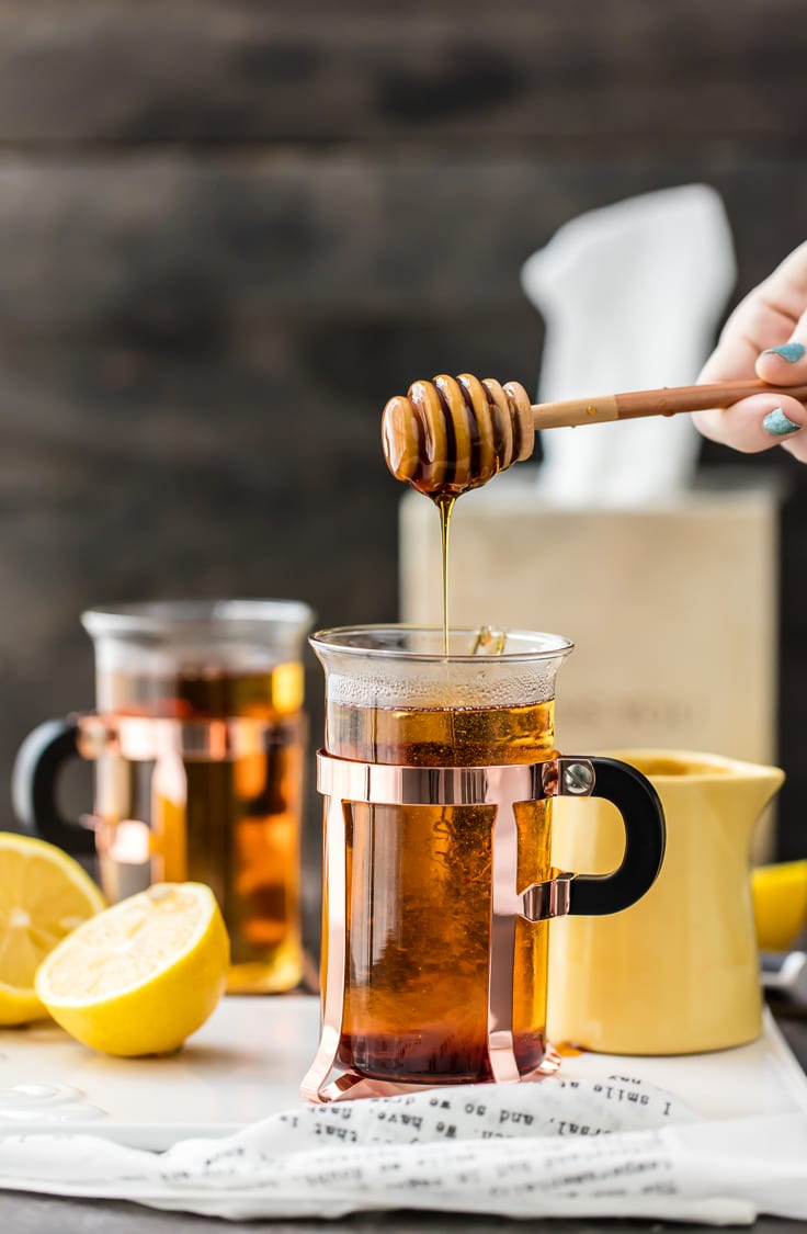 The best way to get better is with a COLD REMEDY HOT TODDY! Our family swears by this for getting over head colds. It's easy to make and much tastier than cough syrup!