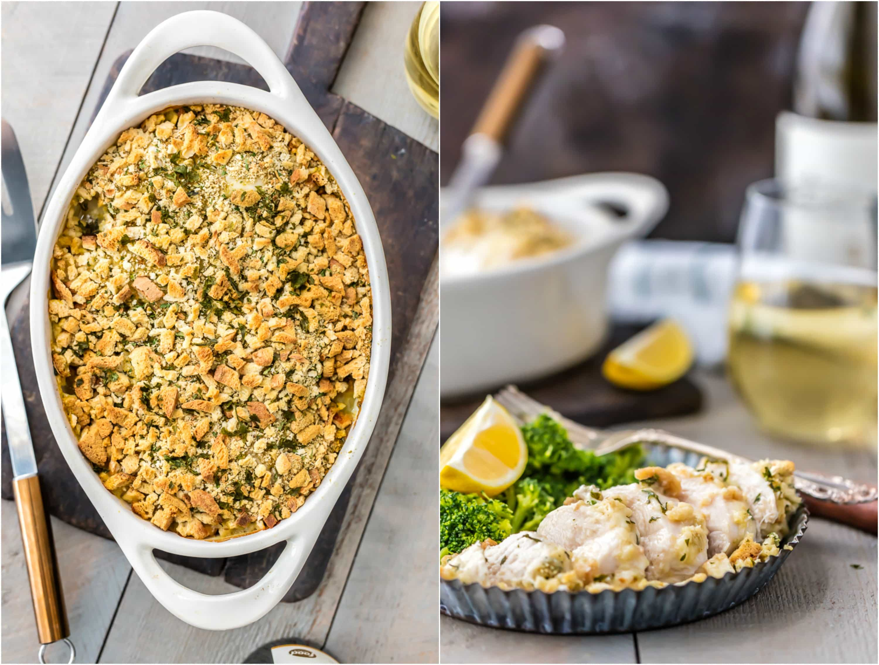 This Creamy Swiss Chicken Bake only has 5 Ingredients and virtually zero cleanup! Such an easy recipe for any occasion. GREAT FOR LEFTOVERS TOO!