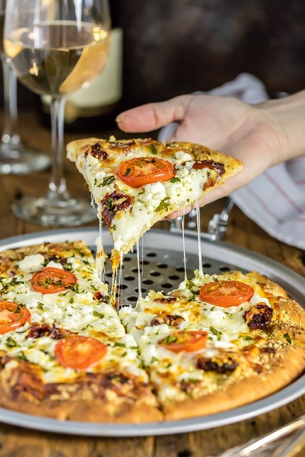 Easy Gourmet White Pizza Copycat | The Cookie Rookie