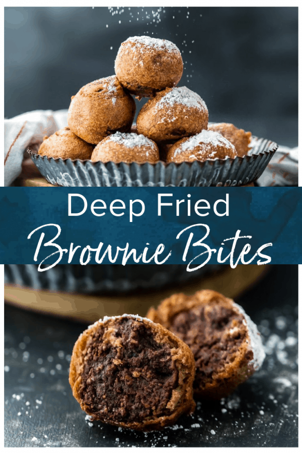 Deep Fried Brownie Bites are an easy and delicious dessert to make with any leftover brownies. Never let brownies go to waste! Make fried brownie truffles instead! #thecookierookie #brownies #browniebites #valentinesday #dessert #truffles #chocolate