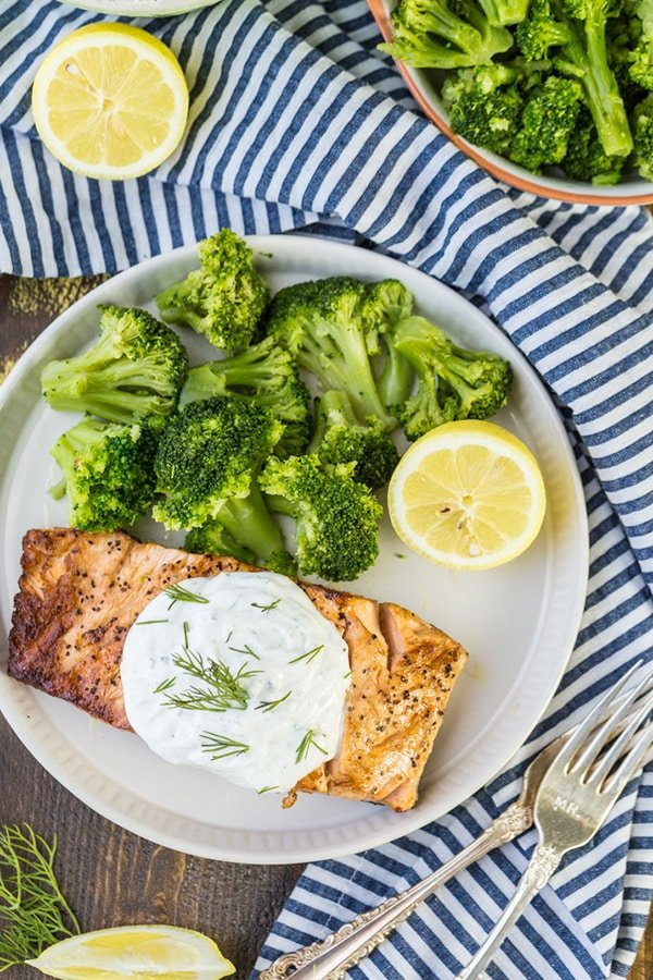 Greek Yogurt Ranch Salmon | The Cookie Rookie
