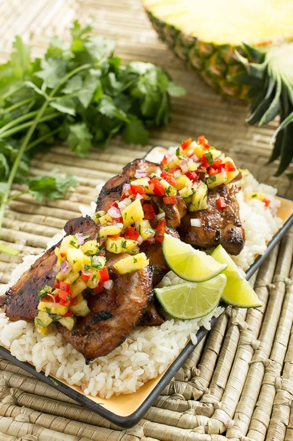 Hawaiian Coconut Grilled Chicken with Pineapple Salsa | Dinner at the Zoo