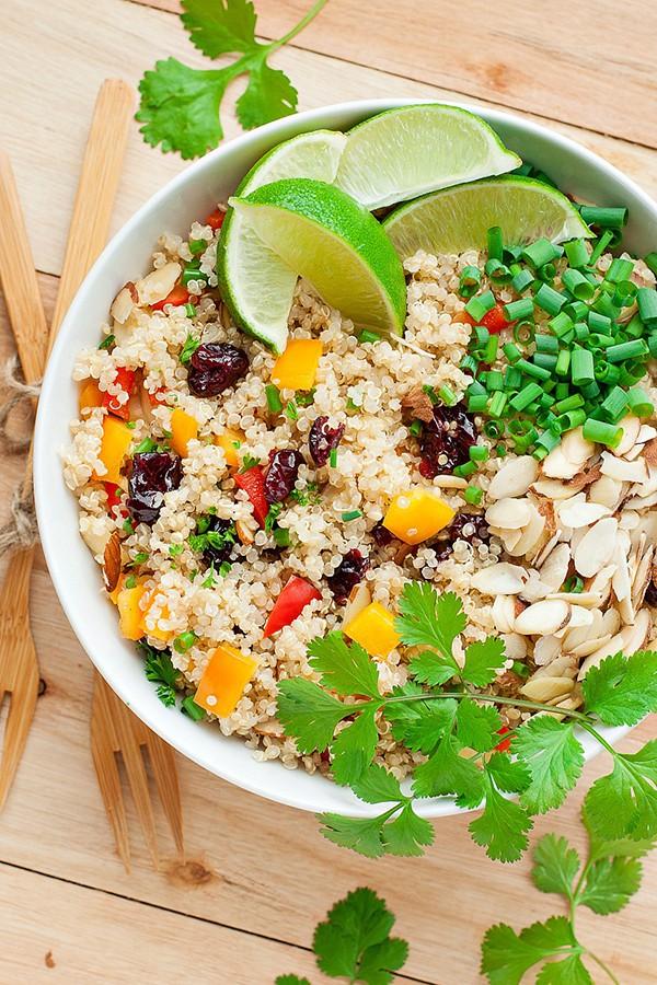 Cranberry Cilantro Quinoa Salad | Peas and Crayons