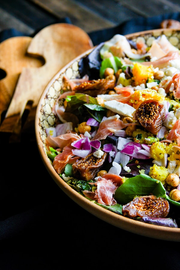 Moroccan Salad with Figs, Basil, and Prosciutto | Cotter Crunch