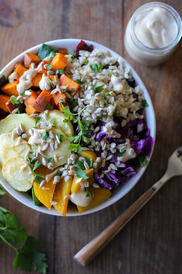 Roasted Root Vegetable Buddha Bowl | The Roasted Root