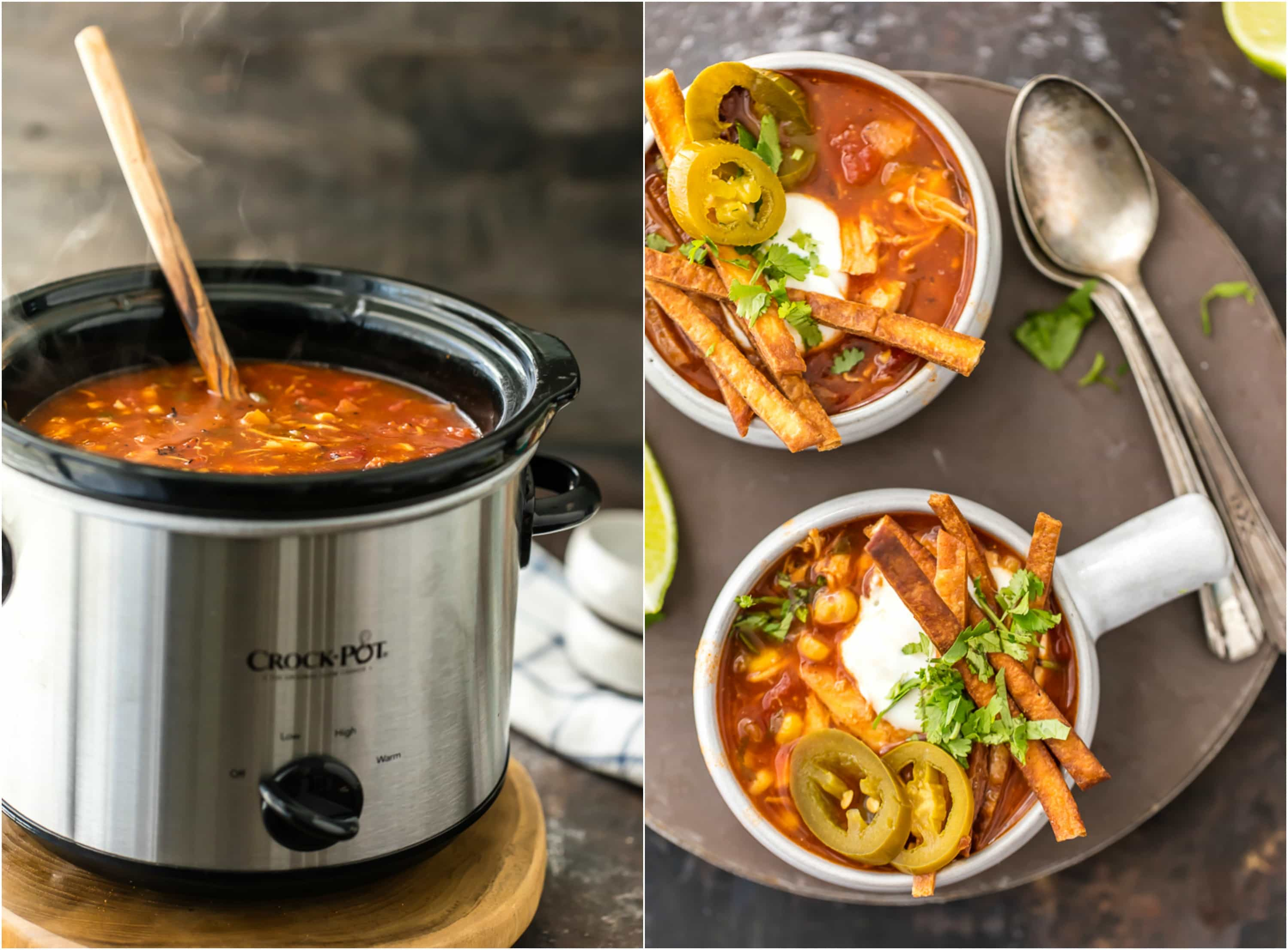 crockpot tortilla soup recipe
