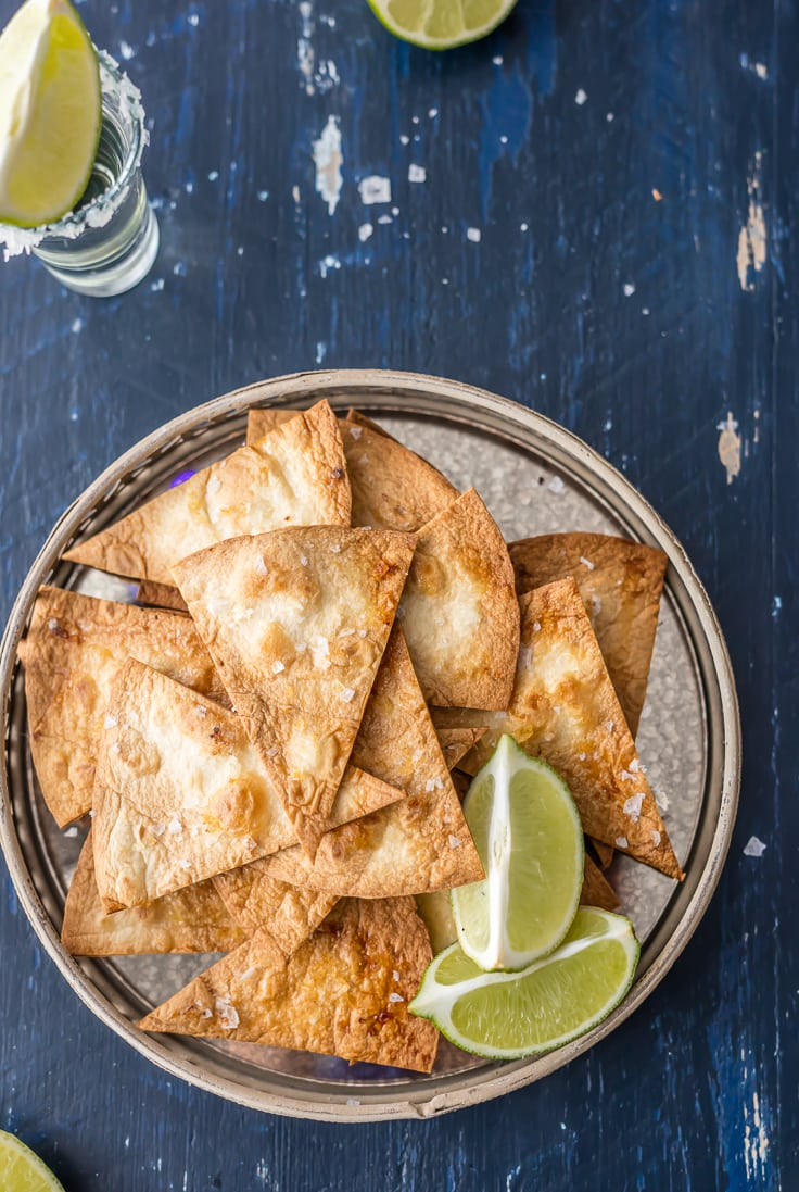 baked tortilla chips with lime