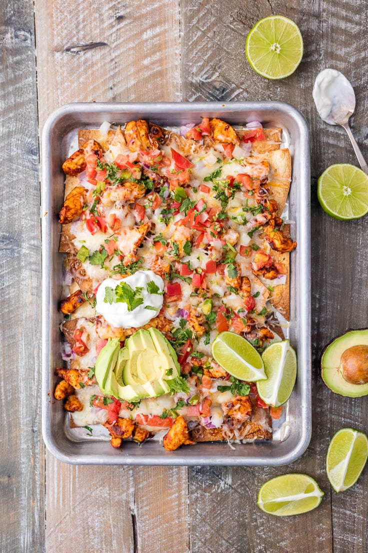 Tequila lime sheet pan chicken nachos the cookie rookie tequila lime sheet pan chicken nachos is a great recipe for feeding a crowd with delicious forumfinder Image collections
