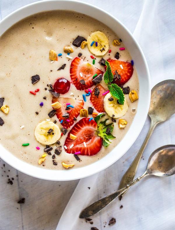 Banana Split Vegan Smoothie Bowl | Food Faith Fitness